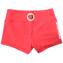 Training short red for women - SAVAGE BARBELL