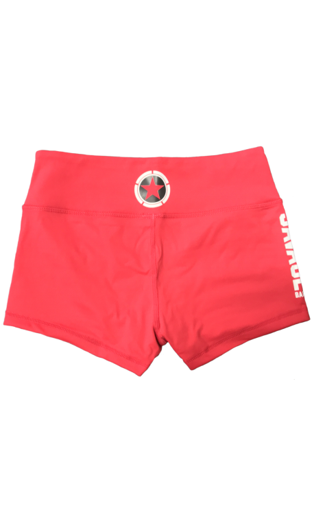 """Short  femme rouge """"RED""""  pour athlète by SAVAGE BARBELL"""
