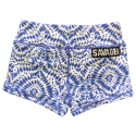 Short  femme bleu HIPPIE BLUE  pour athlète by SAVAGE BARBELL