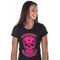 Boutique T-Shirt noir Femme Crossfit - Look pretty