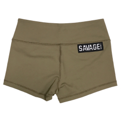 Training short green ARMY for women - SAVAGE BARBELL