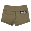 Short  femme Kaki ARMY  pour athlète by SAVAGE BARBELL