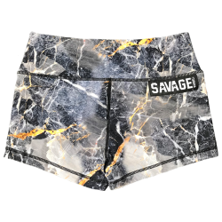 Training short grey GOLD DIGGER for women - SAVAGE BARBELL