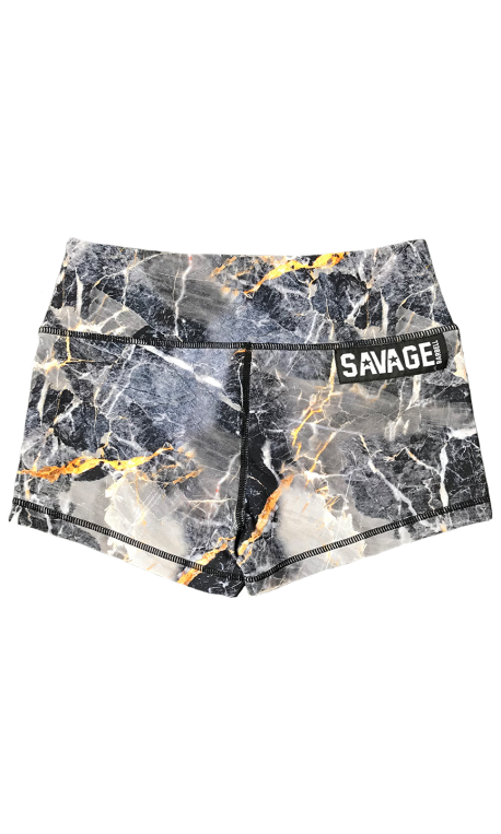 Short  femme gris GOLD DIGGER  pour athlète by SAVAGE BARBELL
