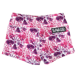 Short femme rose  HIPPIE PINK pour athlète by SAVAGE BARBELL