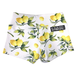 Short femme blanc LEMON DROP  pour athlète by SAVAGE BARBELL