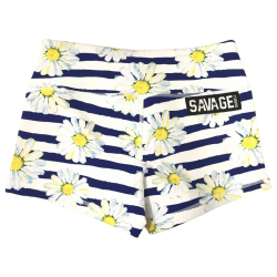 Short  femme multicolore JAIL BLOSSOM ~ COMING SOON fleur rouge pour athlète by SAVAGE BARBELL