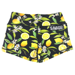 Short femme noir LEMON DROP pour athlète by SAVAGE BARBELL