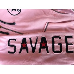 Sweat à capuche femme rose pour athlète by SAVAGE BARBELL