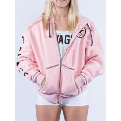 Sweat à capuche femme rose  SAVAGE BARBELL