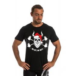 t-shirt homme noir XMAS  pour athlète by NORTHERN SPIRIT