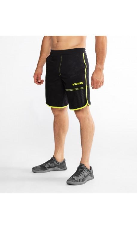 Short Homme Black camo / lime punch ST5 - VELOCITY VIRUS