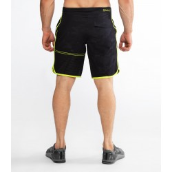 Training short black camo / lime Punch ST5 - VELOCITY for men - VIRUS PERFORMANCE