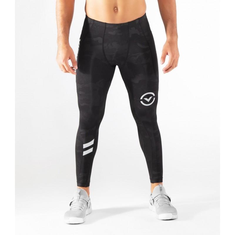 d104624881 ... Leggins de compression Homme Noir Camo SIO16 - V3 TECH STAY WARM COFFEE  CHARCOAL pour athlète ...