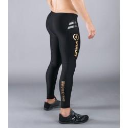 Legging compression Homme Noir/Or AU9 - V2 BIOCERAMIC ™ pour athlète by VIRUS