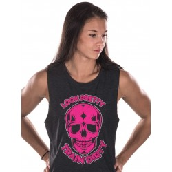 Training muscle tank black LOOK PRETTY for women - NORTHERN SPIRIT