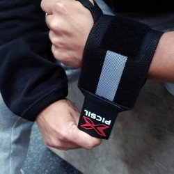Unisex Elastic Wrist Wraps Black/Grey - PICSIL