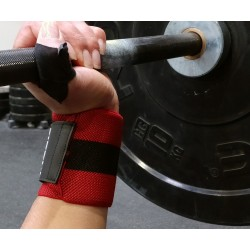 Unisex Elastic Wrist Wraps Red/Black - PICSIL
