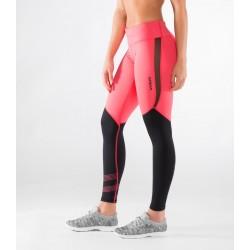 Legging Femme Rose et Noir ECO33 - MESH STAY COOL  pour athlète by VIRUS