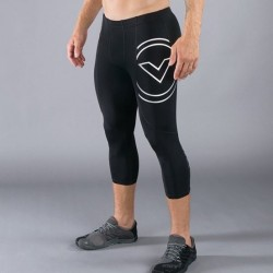 Legging compression Homme Noir RX5 - COUPE 3/4  pour athlète by VIRUS