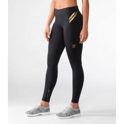 Legging de compression bioceramic Femme Noir or EAU7   pour athlète by VIRUS