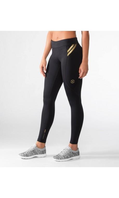 24f84f9a1 Legging de compression bioceramic Femme Noir or EAU7 pour athlète by VIRUS
