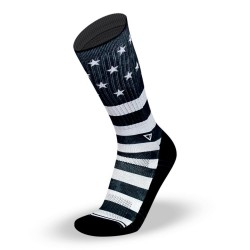 Chaussettes Noires STARS AND STRIPES LITHE