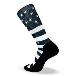 Chaussettes Noires STARS AND STRIPES pour athlète by LITHE APPAREL