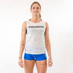 Muscle tank Femme Blanc Classic Thorus pour Athlète by THORUS