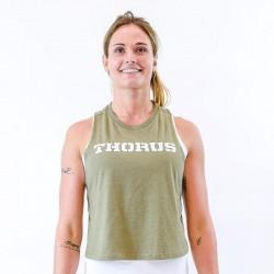Muscle Tank femme vert kaki Classic THORUS
