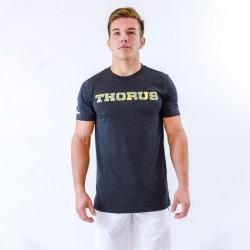 T-shirt Homme Noir Classic Thorus Vert Camo pour Athlète by THORUS