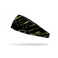 Bandeau d'entraînement noir THRASH NEON YELLOW pour athlète by JUNK