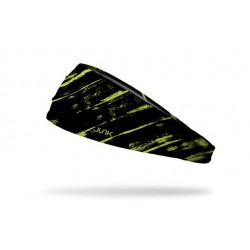 Black workout elastic headband THRASH NEON YELLOW - JUNK