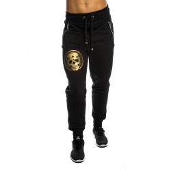 Jogging Femme noir SMALL GOLD SKULL pour athlète by NORTHERN SPIRIT