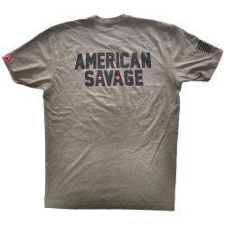 T-shirt Homme vert AMERICAN SAVAGE pour athlète by SAVAGE BARBELL