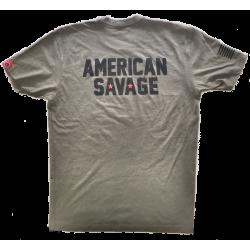 T-shirt Homme vert AMERICAN SAVAGE SAVAGE
