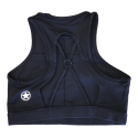 SAVAGE Brassière sport entraînement noire HIGH NECK BLACK