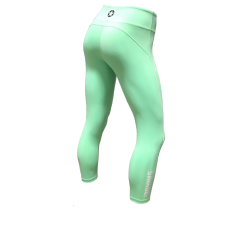 Legging femme vert SEA FOAM  pour athlète by SAVAGE BARBELL