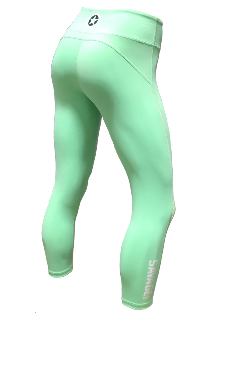 Legging femme vert SEA FOAM  pour athlète by SAVAGE