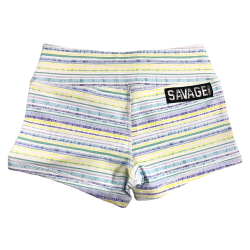 Training short yellow SPING FIELD for women - SAVAGE BARBELL