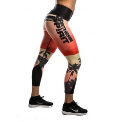 Training legging multicolor TROPICAL for women - NORTHERN SPIRIT