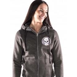 Boutique Sweat à capuche sport Femme Crossfit - Gris Skull