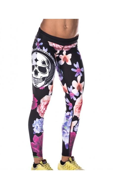 Boutique Legging multicolor Femme sport - Flower skull