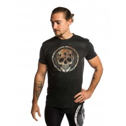 T-shirt black RUSTY SKULL for men - NORTHERN SPIRIT
