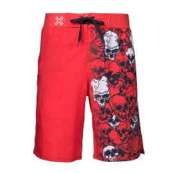 Short homme ultra léger Rouge SKULLS pour athlète by XOOM PROJECT