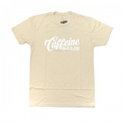 T-shirt sand script logo T for men - CAFFEINE AND KILOS