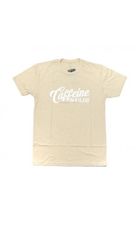 T-shirt entraînement homme Caffeine and Kilos - Script Logo T sand