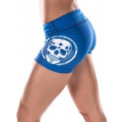 Boutique Short Femme sport- Bleu White Skull