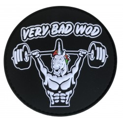 Patch PVC 3D velcro noir UNICORN SOLDIER pour athlète by VERY BAD WOD