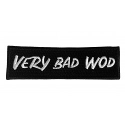 Patch broderie velcro noir VBW pour athlète by VERY BAD WOD